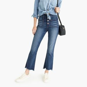 Point Sur J.Crew Button Fly Demi Boot Denim 32P